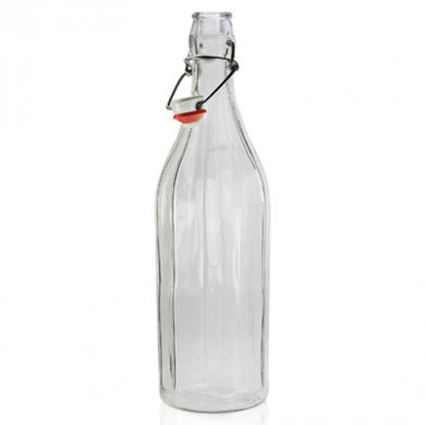 Glass Bottle with Flip Top/Swing Lid (1 Litre)