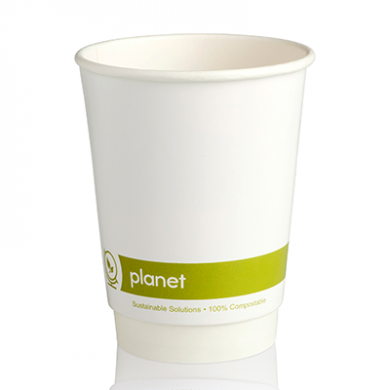 Planet Compostable Double Wall Hot Cup 12oz (90mm Rim) Pk 25