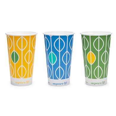 Bio Compostable Hula Paper Cups 12oz (76mm Rim) Pack of 50