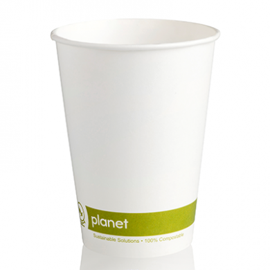 Planet Compostable Single Wall Hot Cup 12oz (89mm Rim) Pack