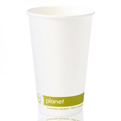 Planet Compostable Single Wall Hot Cup 16oz (90mm Rim) Pk 50