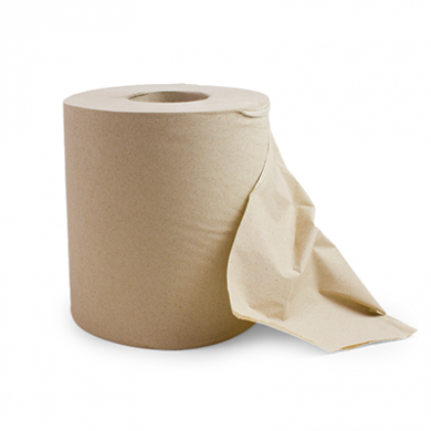 Vegware Unbleached Recycled Centrefeed Roll - 2-Ply (150m) P