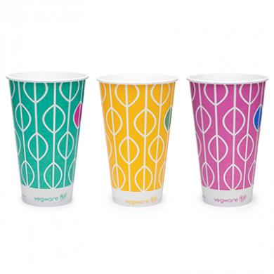 Bio Compostable Hula Paper Cups 22oz (96mm Rim) Pack of 50