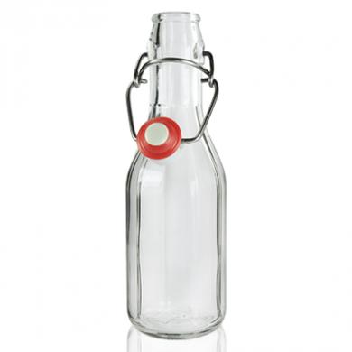 Glass Bottle with Flip Top/Swing Lid (250ml)