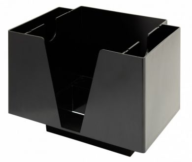 Bar Napkin Caddy - 3-Compartment (Black)