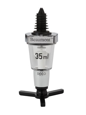 Beaumont Solo Classical Spirit Measure (35ml) Chrome Metal V