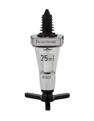Beaumont Solo Classical Spirit Measure (25ml) Chrome Metal C
