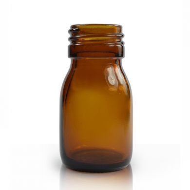 Mini Glass Bottle (30ml) - Amber