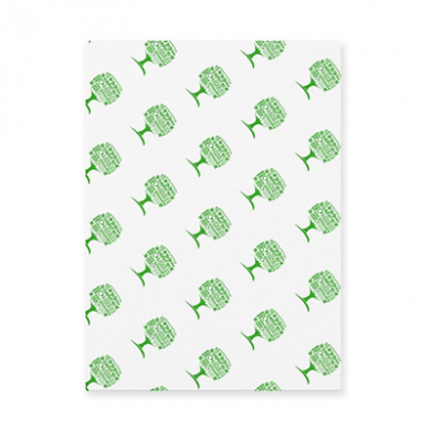 Greaseproof Sheets - Green Tree (350 x 225mm) - Pack of 1000