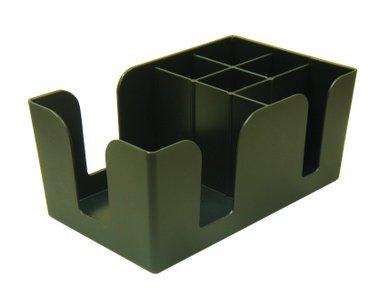 Bar Napkin Caddy - 6-Compartment (Black)