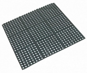 Rubber Floor Mat >> Rubber Floor Mat Square Interlocking 90cm X 90cm X 1 2cm