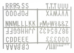 Peg Board Characters White (20mm)