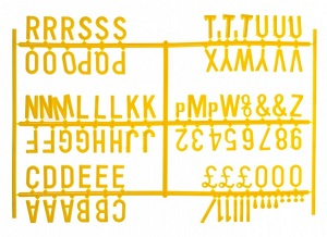 Peg Board Characters Yellow (20mm)