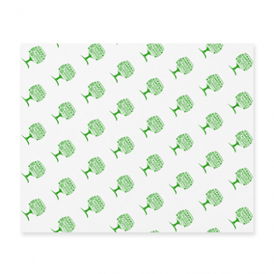Greaseproof Sheets - Green Tree (430 x 350mm) - Pack of 960