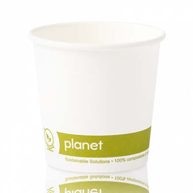 Planet Compostable Single Wall Hot Cup 4oz (60mm Rim) Pack o