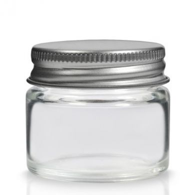 Glass Simplicity Jar With Lid (15ml)
