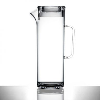 Polycarbonate - Slim Tall Jug Clear WITH LID (1.7L) - Not CE
