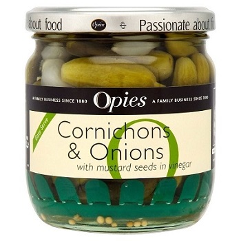 Opies - Cornichons and Onions with Easy Serve (400g)