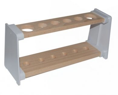 Test Tube Rack (Wooden) - 6 Holes