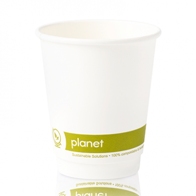Planet Compostable Double Wall Hot Cup 8oz (80mm Rim) Pk 25