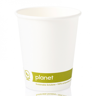 Planet Compostable Single Wall Hot Cup 8oz (79mm Rim) Pack o