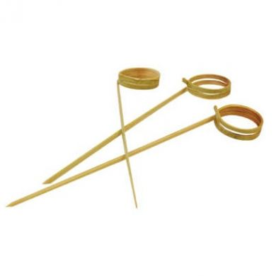 Bamboo Knotted Cocktail Picks - 120mm (Pack of 100)