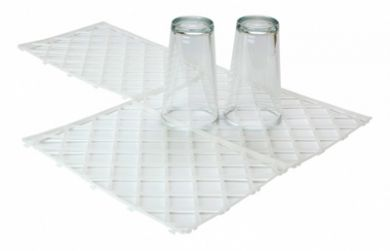 Interlocking Glass Mats - White (Pk 10) - Light Duty