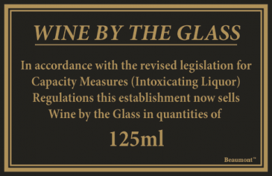 Law Sign - Wine By The Glass (125ml)