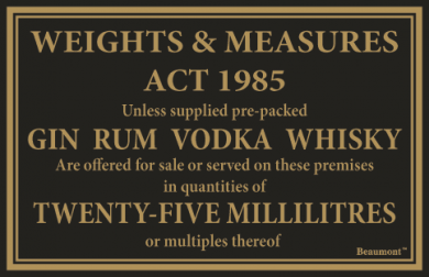 Law Sign - Gin, Rum, Vodka and Whisky (25ml)