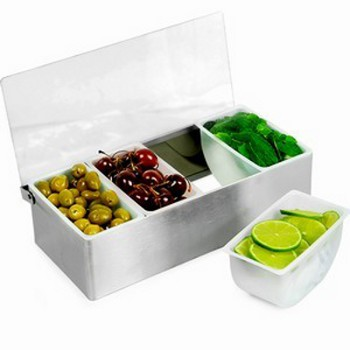 Stainless Steel Condiment Dispenser (4 Compartment)