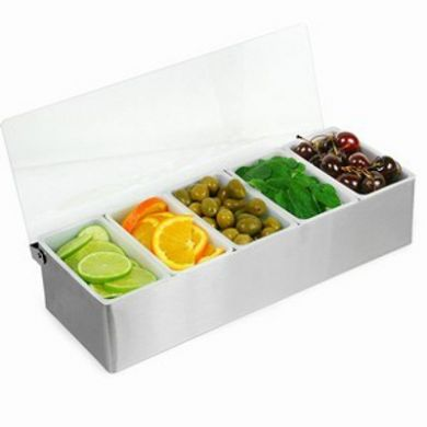 Stainless Steel Condiment Dispenser (5 Compartment)
