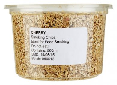 Wood Chips for Smoking - Cherry (500ml / Approx 110g)