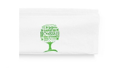 Vegware Dispenser Napkins 33cm 1-Ply - Pack of 250 (Green Tr