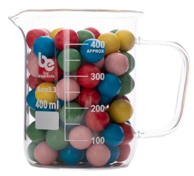 Bar Essentials Glass Beaker With Handle (Borosilicate) 400ml