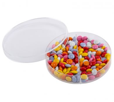 Plastic Petri Dish (90mm) Two Compartment