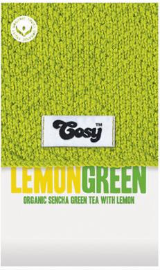 Cosy Tea - Sencha Green Tea with Lemon (20 bags) Organic