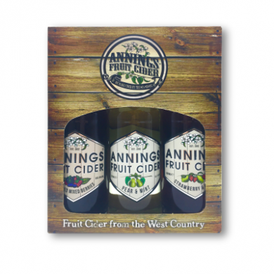 Annings - Fruit Cider Gift Box (3 x 50cl) 4% ABV