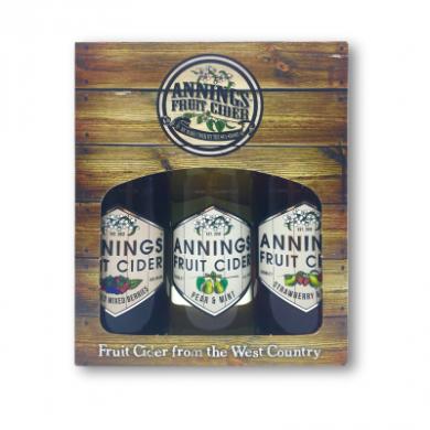 Annings Cider - Fruit Cider Gift Box (3 x 50cl) 4% ABV