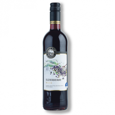 Lyme Bay Devon Wine - Elderberry Wine (75cl) 11% ABV