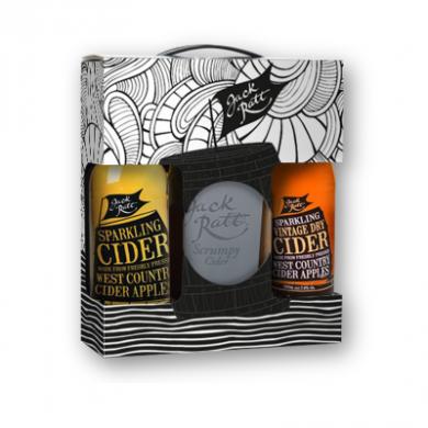 Jack Ratt Dorset Cider and Glass Gift Box (2 x 50cl) 5/7.4%