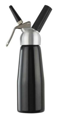 Cream Whipper - 0.5 Litre (Black with Metal Head)