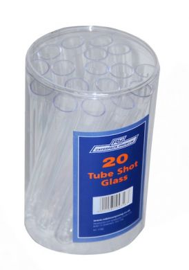 Pack of 20 Plastic Test Tubes (17mm Wide x 140mm Long)