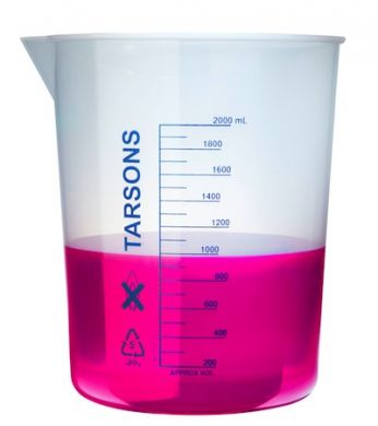 Beaker - Tarsons (Plastic) - 2000ml (Huge!)