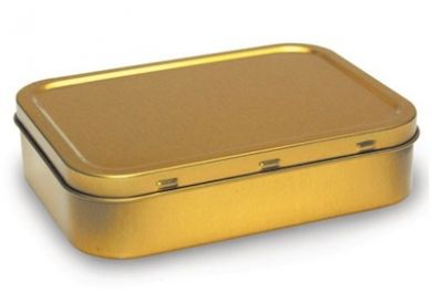 Tobacco Tin - Gold Large (50g/2oz Tin)