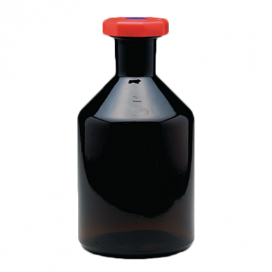 Amber Glass Reagent Bottle - Academy (Red Stopper) 250ml OFF