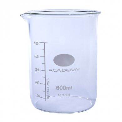 Beaker - Academy (Borosilicate Glass) 600ml
