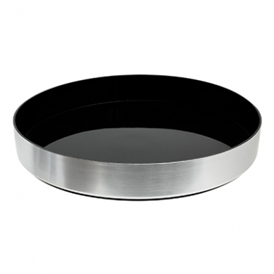 Aluminium Non Slip Drinks Tray With High Sides (33cm Diamete