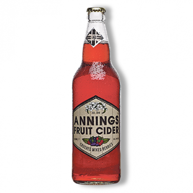 Annings Cider - Crushed Mixed Berries (500ml) 4% ABV