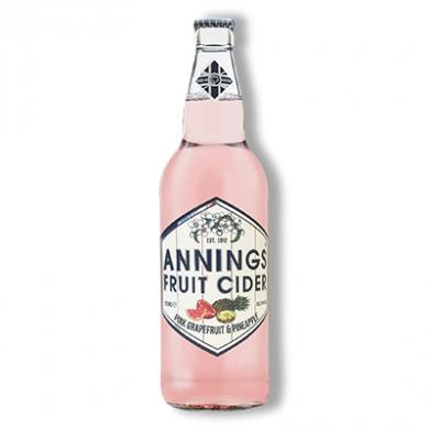 Annings Cider - Pink Grapefruit & Pineapple (500ml) 4% ABV