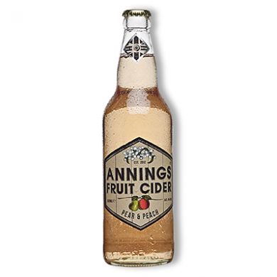 Annings Cider - Pear & Peach (500ml) 4% ABV
